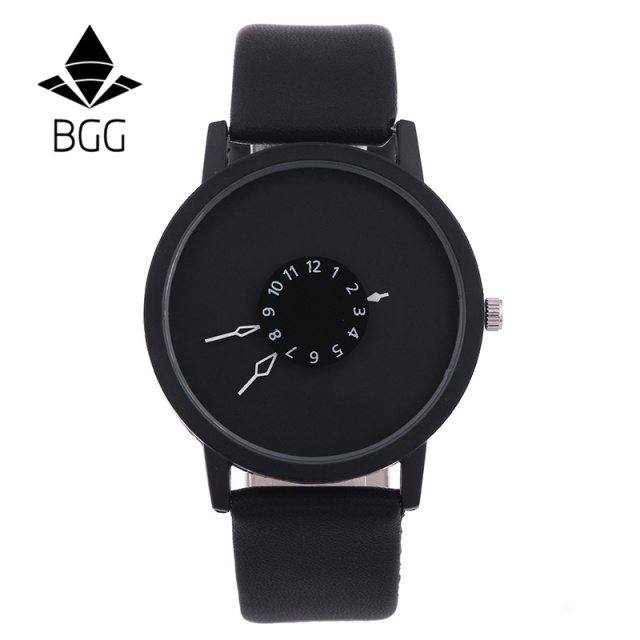 Couple Watch Leather Wristwatches Clock