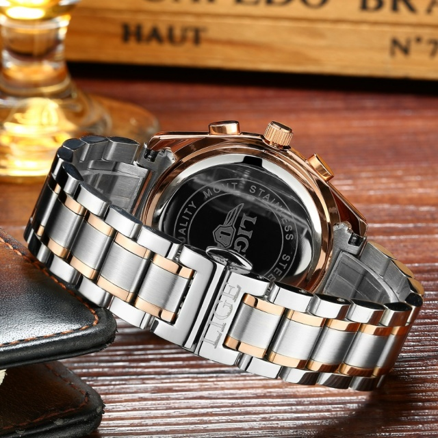 Men Full Steel Military Watch Quartz Clock