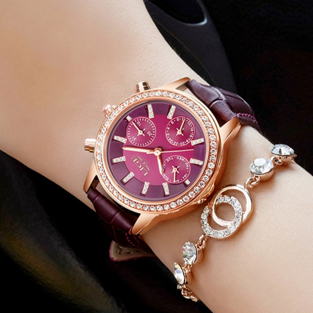 Casual Leather Ladies Dress Watches