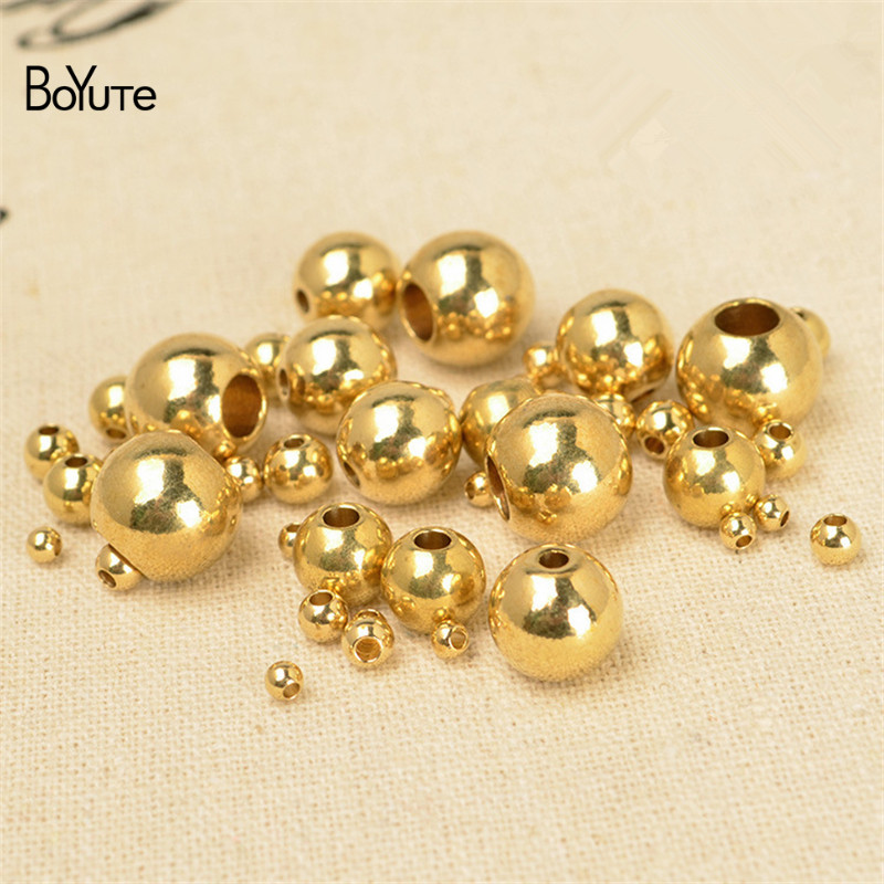 Round Metal Brass Spacer Beads Jewelry Making