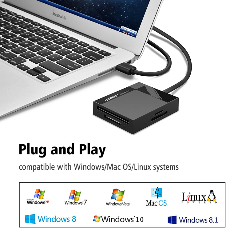 All in One USB 3.0 Card Reader SD TF CF MS Micro SD Smart Card Reader